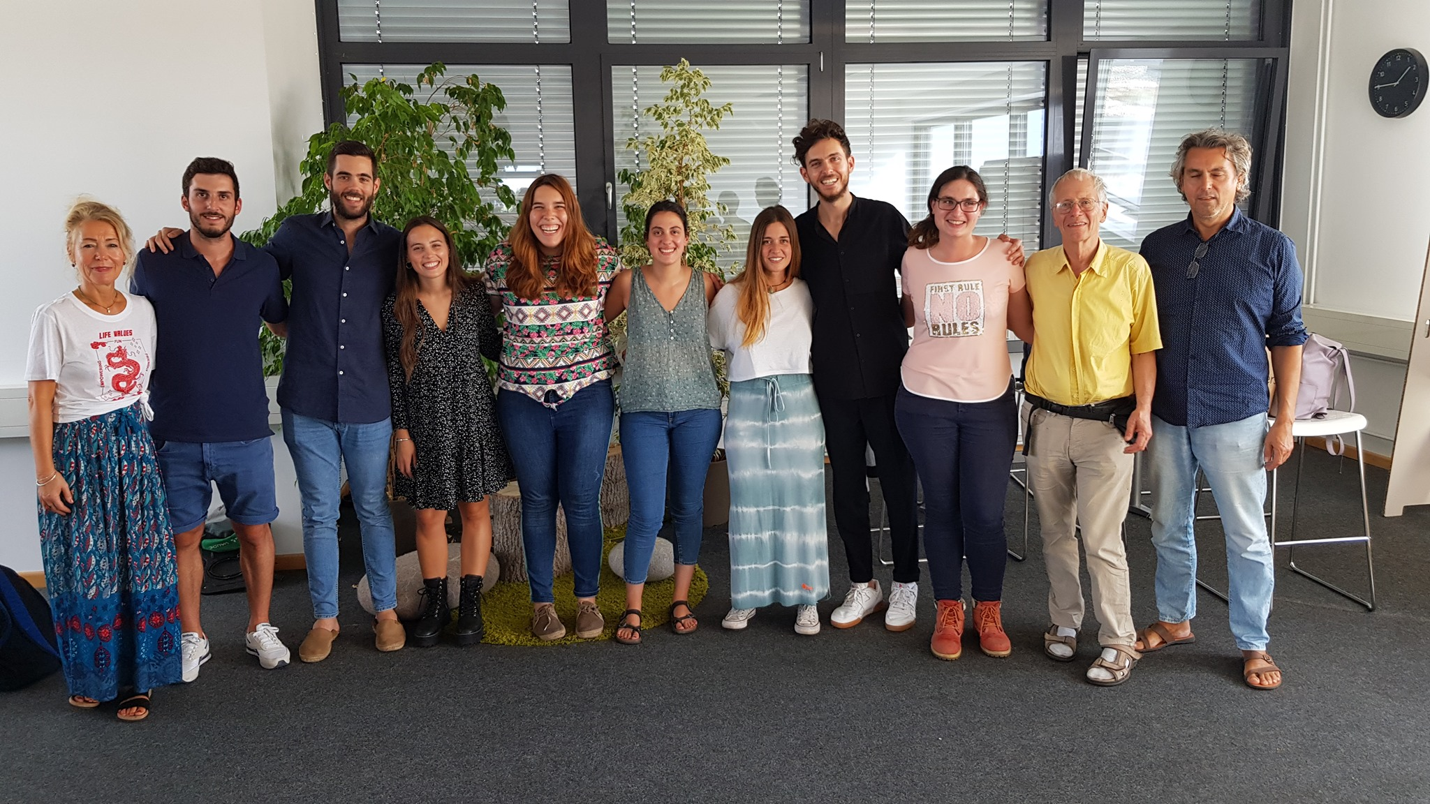 Young people from Greece and Spain visit Berlin to be trained in natural cooling and heating