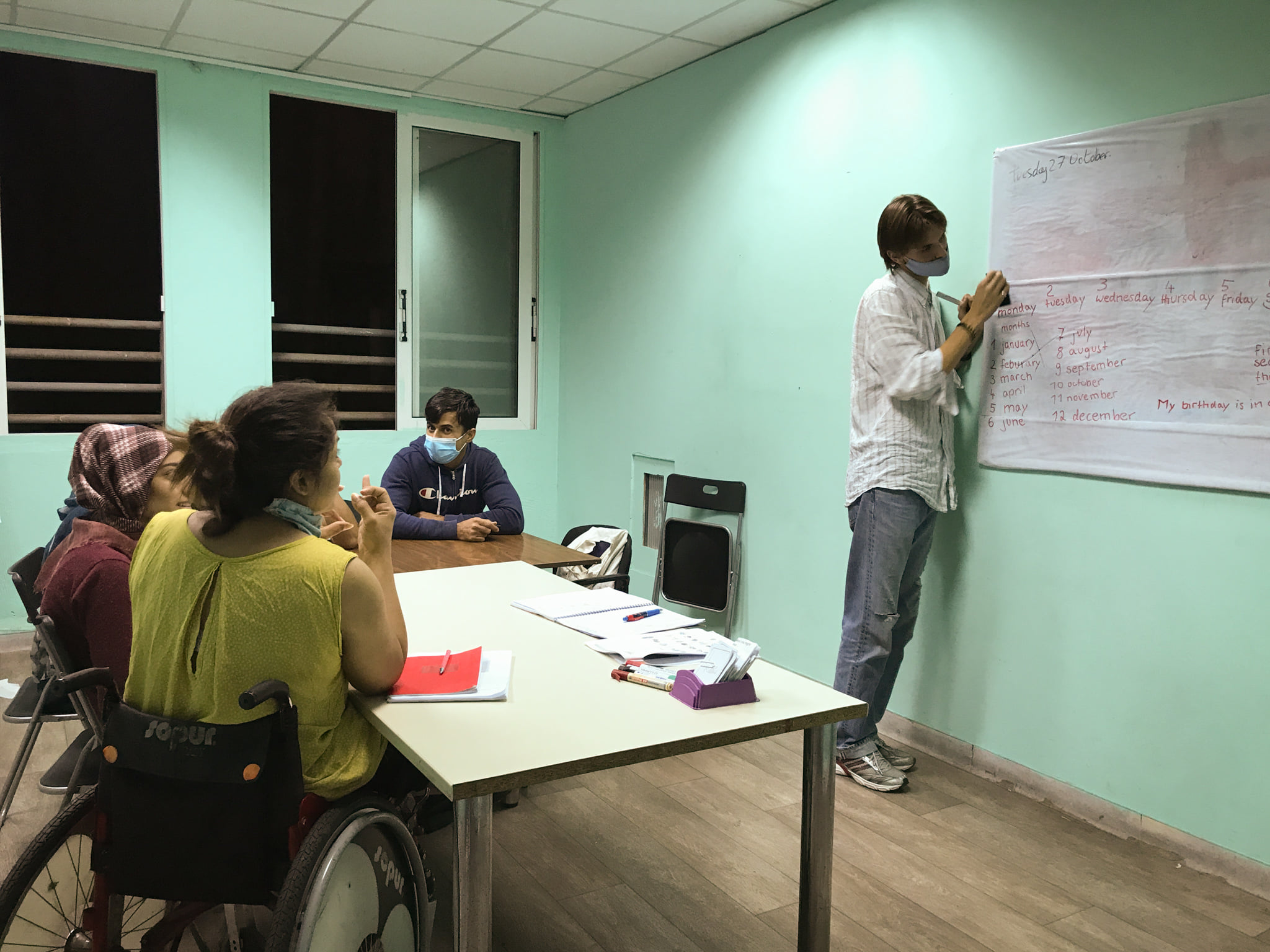 Huxley, ESC volunteer: a very enriching and educational time with refugees in the Welcommon Hostel